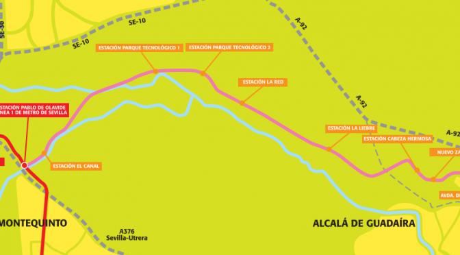 La Junta estudia que el tranvía de Alcalá de Guadaíra sea parte de la Línea 1 de Metro